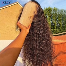 30 Inch HD Deep Wave Lace Front Wig Malaysian Human Hair Wigs For Women Water Wave Wig Remy 13x6 Lac