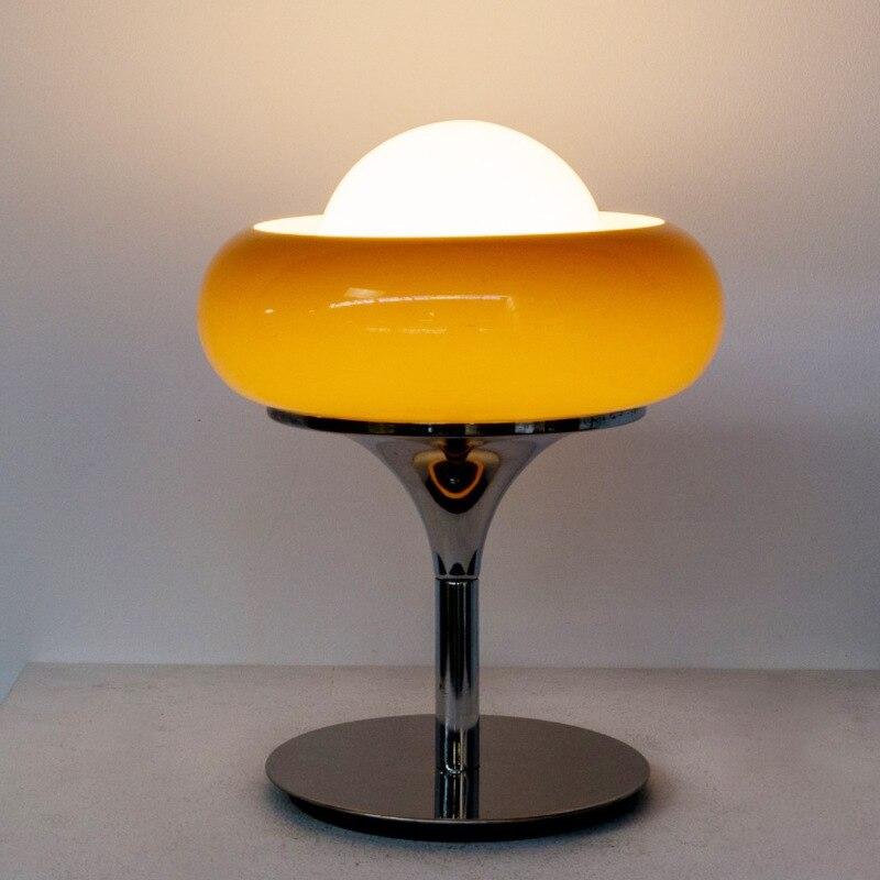 Ins شعبية الأصفر البرتقالي أباجورة مصنوعة من الزجاج الكورية شعبية الجدول iight LED مصباح طاولة الديكور لغرفة المعيشة فندق داخلي
