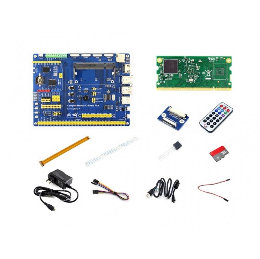 Raspberry Pi Compute Module 3 Lite Kit de Développement de Type A Avec Compute Module 3 Lite, Adaptateur secteur carte Micro SD Caméra câble