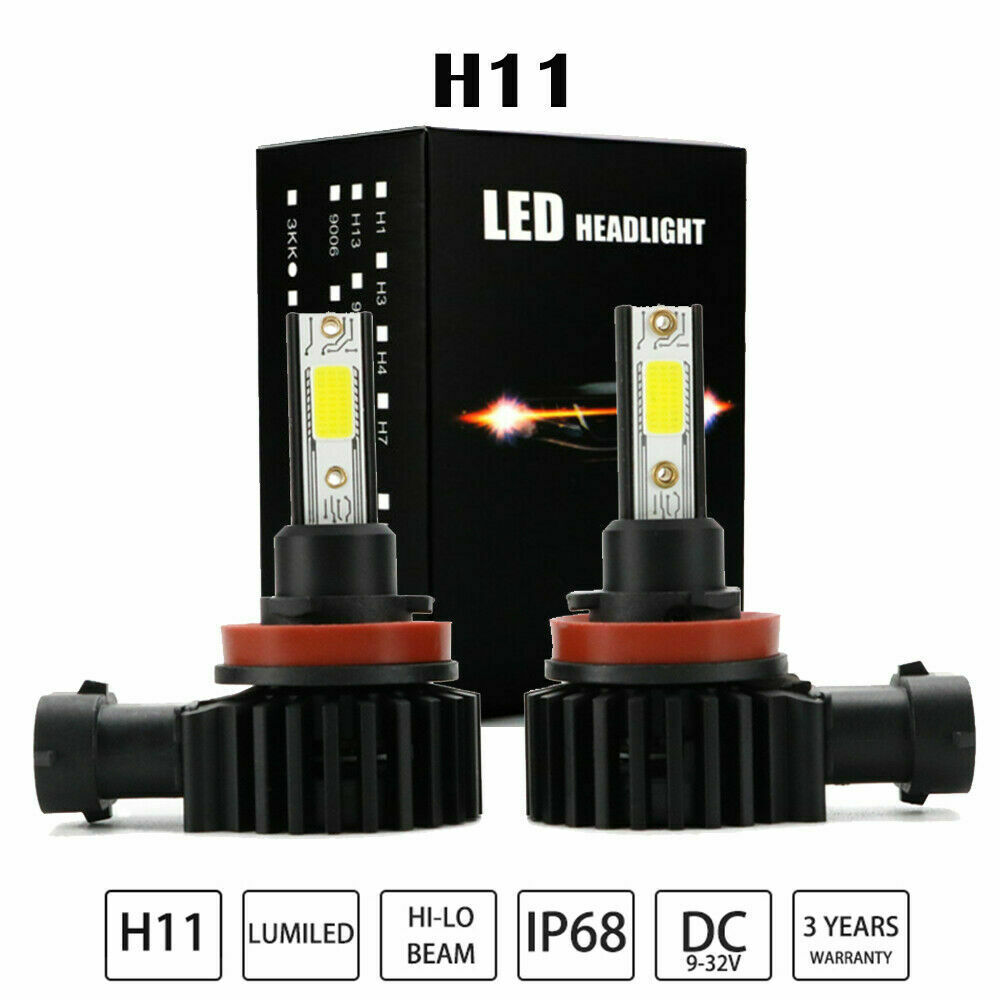 Nuevo 80W CANBUS H11 H1 LED Mini coches faros luces Auto Delgado H4 H7 9005 9006 h10 9012 H3 Faroa Kit de conversión cob bombillas