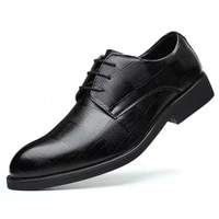 mens casual shoes mens breathable business mens casual shoes 2021 fashion casual mens shoes black large size leather shoes