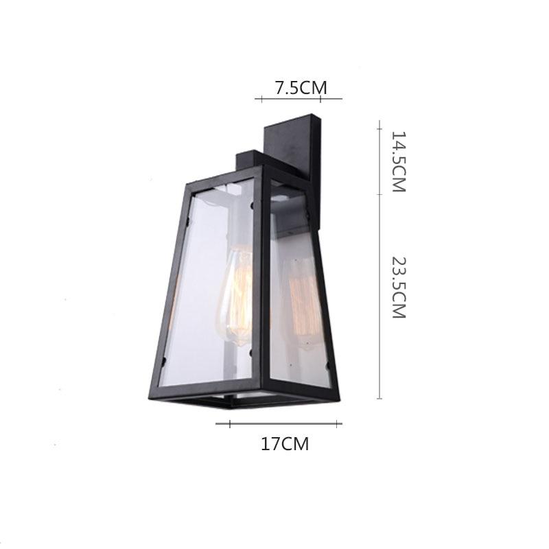 Vintage Outdoor Waterproof wall lamps LED IP44 Glass luminaria porch light LOFT Industrial outdoor hotel Garden Wall Lightings enlarge