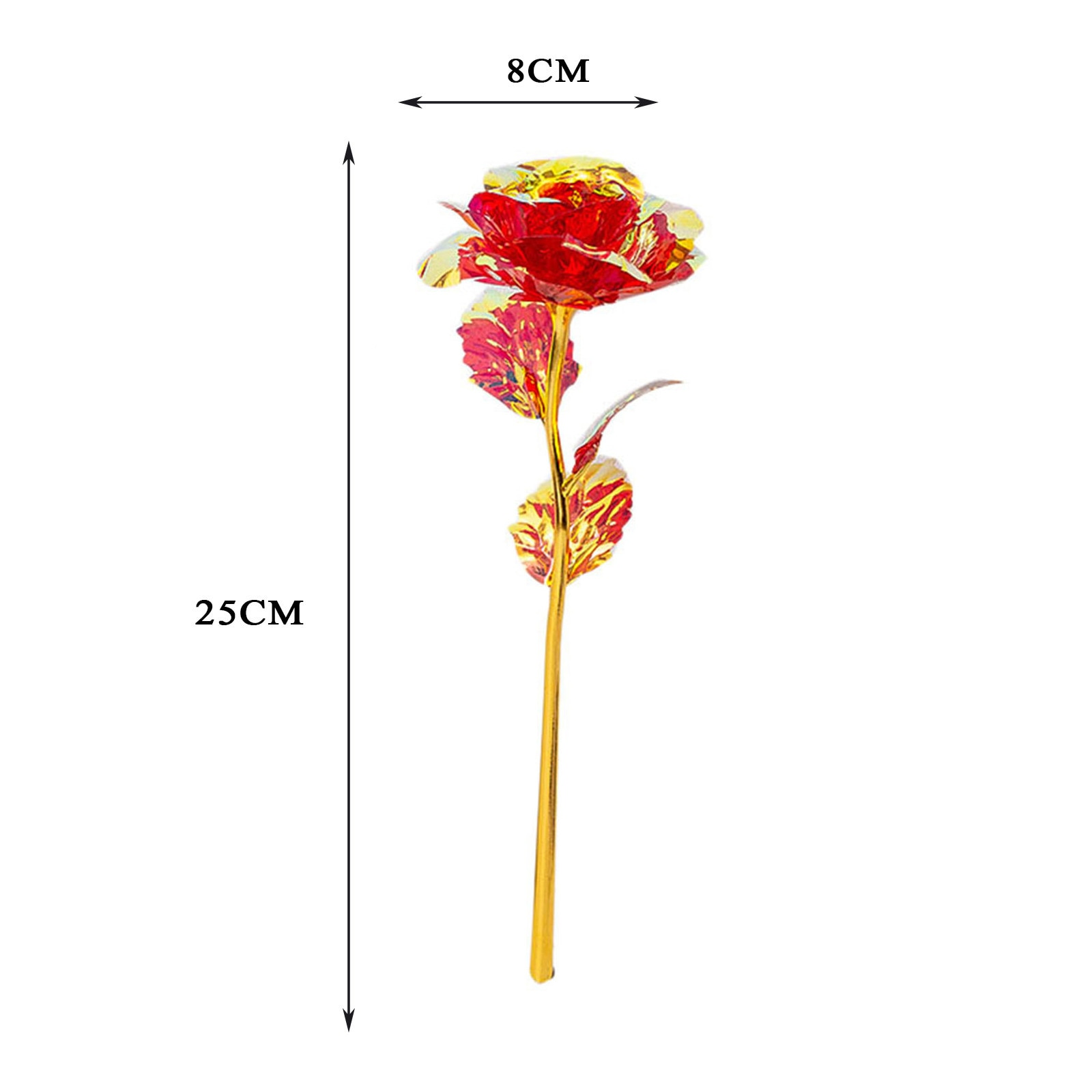 Colored Floral Vase Decor DIY Christmas Decoration Plastic Eternal Rose For Wedding Party Decorations 2021 XMAS Gift