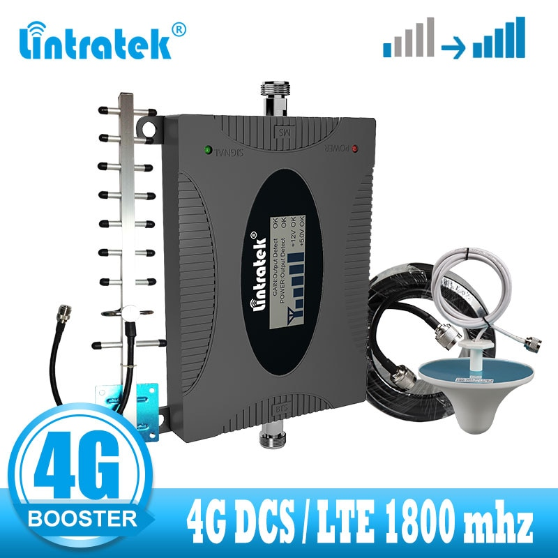 lintratek LTE 4G Signal booster DCS 1800 Celluar Signal booster amplifier Improve GSM 1800mhz 4G internet  mobile phone repeater