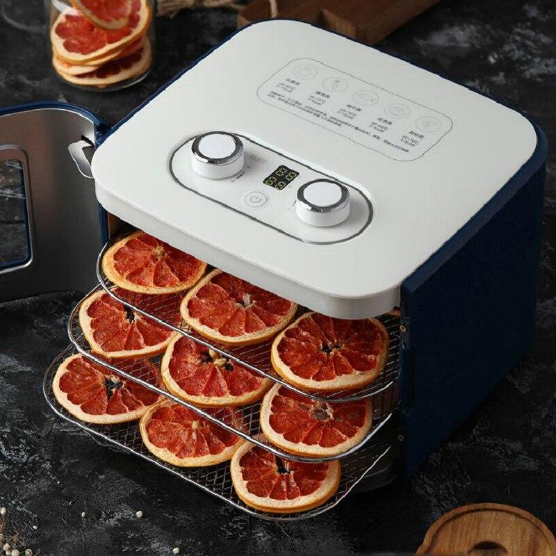 Deshidratador de alimentos máquina de frutas secas secador de frutas para el hogar pequeño bocadillo de mascotas frutas y verduras 4 pisos de gran espacio
