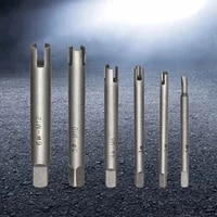 6 pcs tap extractor drill bit set for removing spalling damage broken head screw remover stripped tap extractor set
