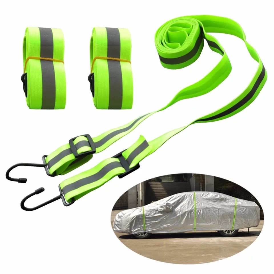 AliExpress - JIUWAN Car Covers Elastic Adjustable Reflective Stripe Rope Easy Installation Rope Protect Cover From High Wind Multiple Use