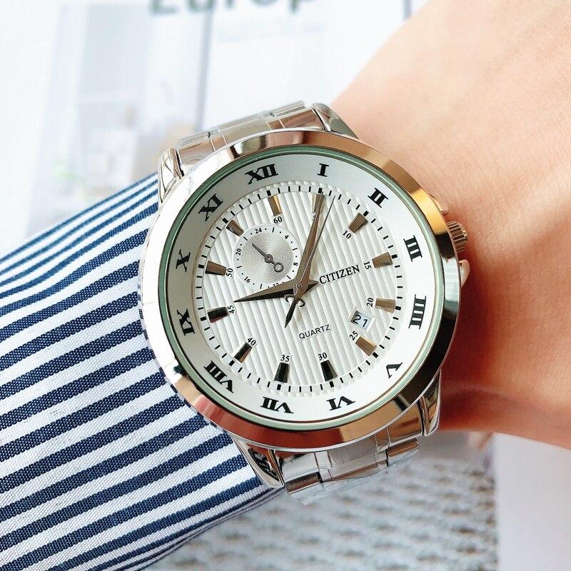Citizen2021 luxury watch fashion business bracelet watch stainless steel men's quartz wrist watch an