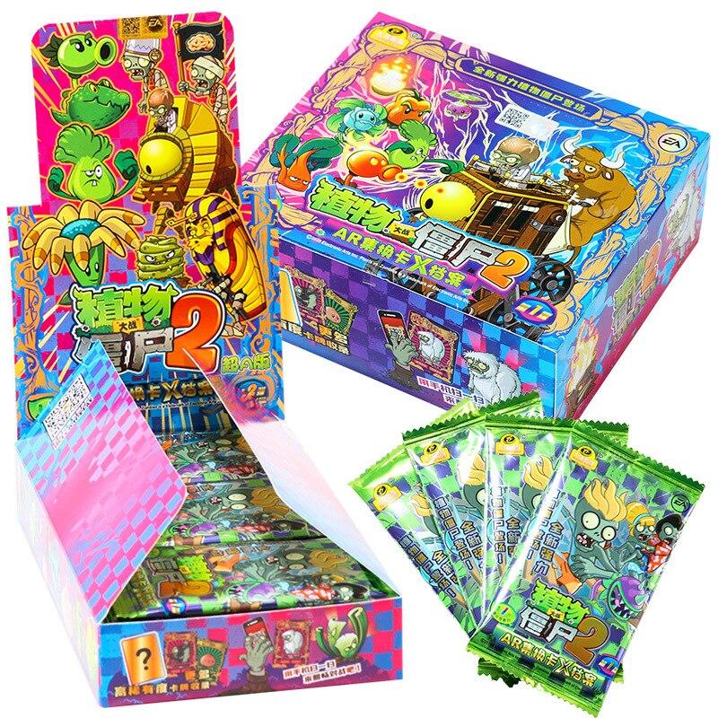 2 карточки зомби горох горохострел гэтлин Подсолнух Chomper бумажные буквы игры для детей Аниме Коллекция детский подарок игра игрушка