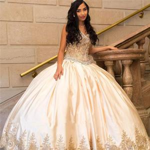 Sweetheart Satin Quinceanera Dresses 2020 Lace Beaded Beaded Ball Gown Prom Dresses With Corset Back 15 year Debutante Vestidos
