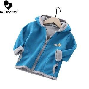 Baby Boys Girls Wool Hooded Zipper Coat Outwear Sweatshirt 2020 Autumn Winter Kids Warm Soft Fleece Jackets Children Clothing