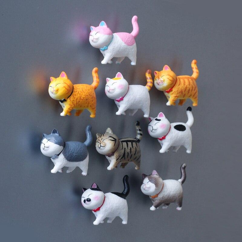 Милая Пижама «Hello kitty», Пижамный костюм с холодильник паста теплый серии 3D кошка Магнитная паста украшения дома Творческий подарок животных наклейки на холодильник