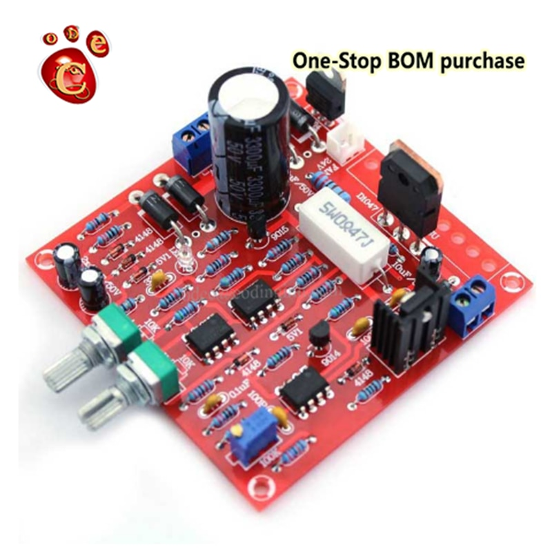 Adjustable DC regulated power 0-30V 2mA-3A supply laboratory power supply short circuit current limit protection DIY kit