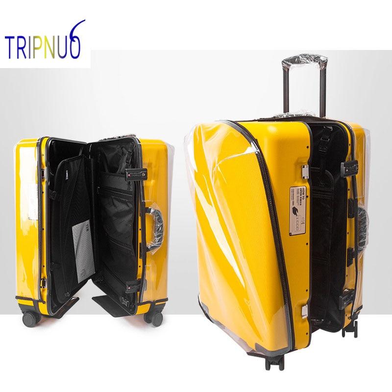 Прозрачный чехол на колесиках из ПВХ, чехол для чемодана, защитный Пылезащитный Водонепроницаемый чехол для путешествий, аксессуары для пу... чехол