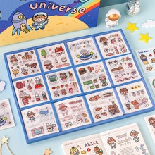 20 Sheets Kawaii Wahis Sticker Set Planet Food Weather Cute Animal Floral Adhesive Labels For Scrapbook Planner Gift Stationery