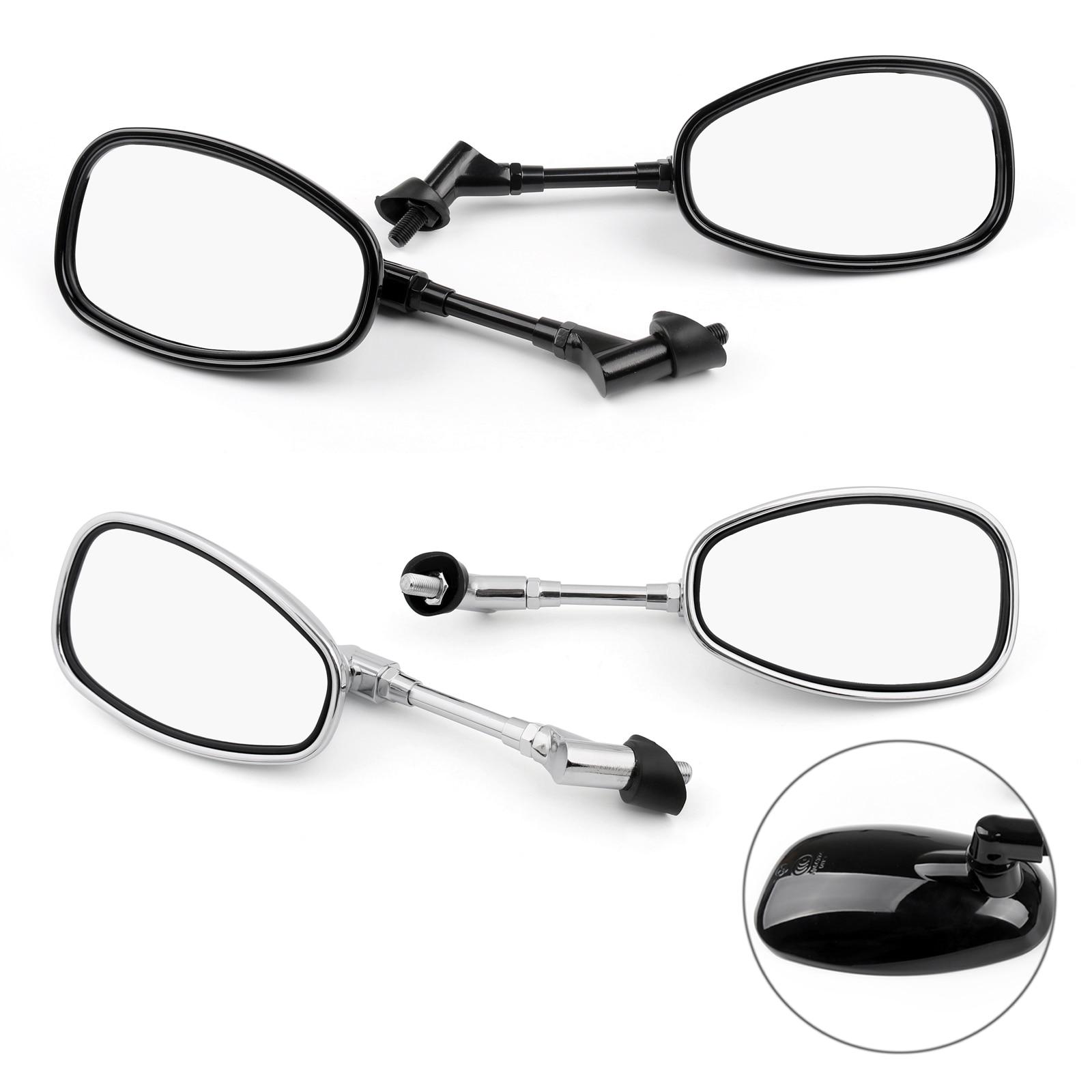 Artudatech 10mm Motocycle Rear View Mirrors For Suzuki GSF250 Bandit 250/400/600 SV1000 Motorbike Ac