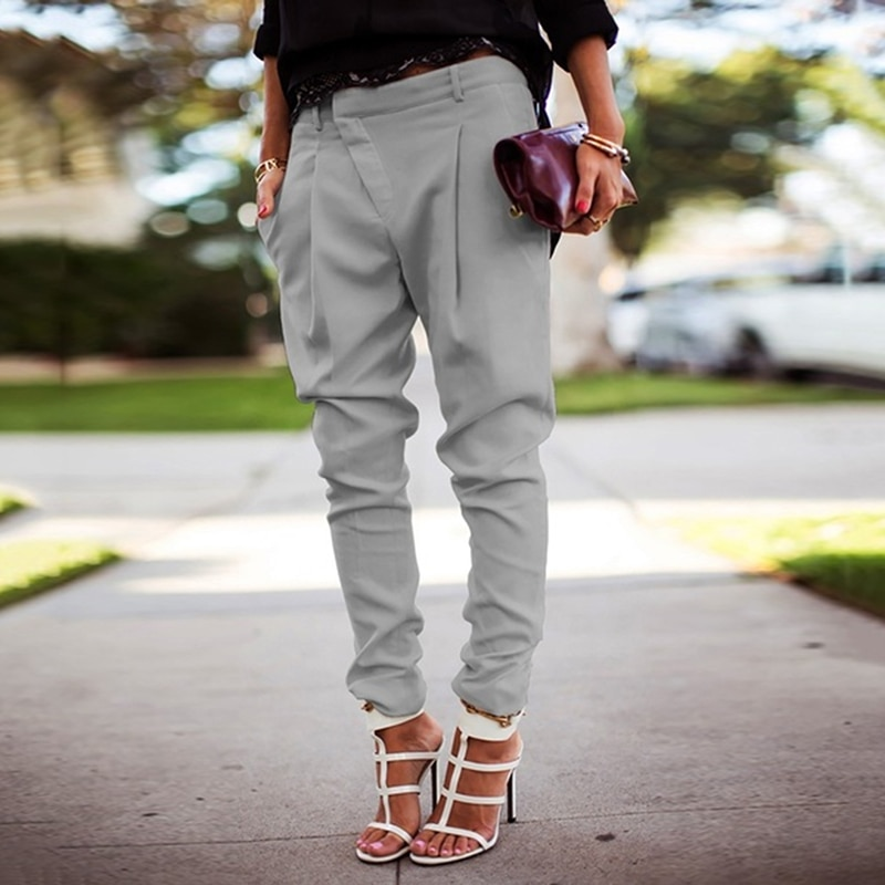 Women Pants Harem Streetwear Low Waist Pants  Loose Joggers Punk Black Cargo Pants Women Capris Trousers