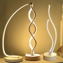 Lámpara de mesa LED minimalista moderna para dormitorio, luz de lectura de escritorio de acrílico, luz de noche, iluminación del hogar
