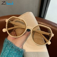 Zilead Vintage Sunglasses Irregular Wrap Frames Fashion Comfortable UV Protection Clear Lens For Wom