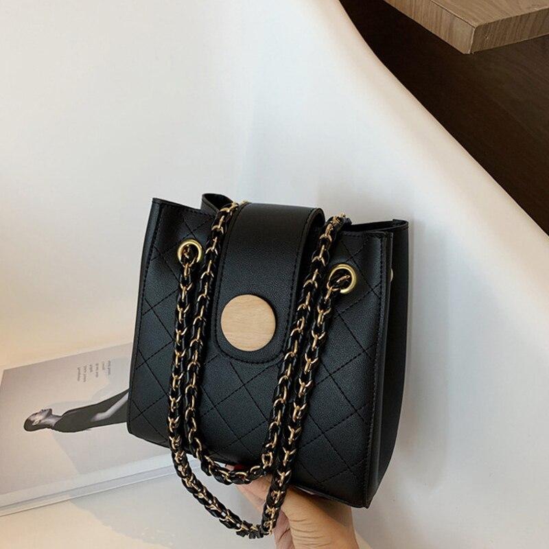 Bolso pequeño Simple y versátil para mujer 2020 nueva moda cadena de moda bolso de cubo red todo-fósforo bolso de mensajero de moda de mujer