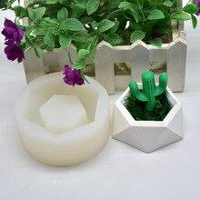 Superficie geométrica en forma de diamante, maceta de flores para plantas suculentas, molde de silicona para bricolaje, Cenicero, soporte para Vela, maceta para plantas carnosas