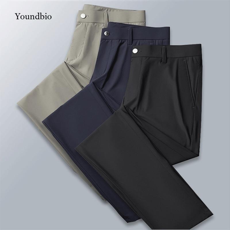 2021 nuovi pantaloni da uomo pantaloni Casual da lavoro in seta di ghiaccio sport da lavoro comodi pantaloni dritti larghi leggeri traspiranti da uomo