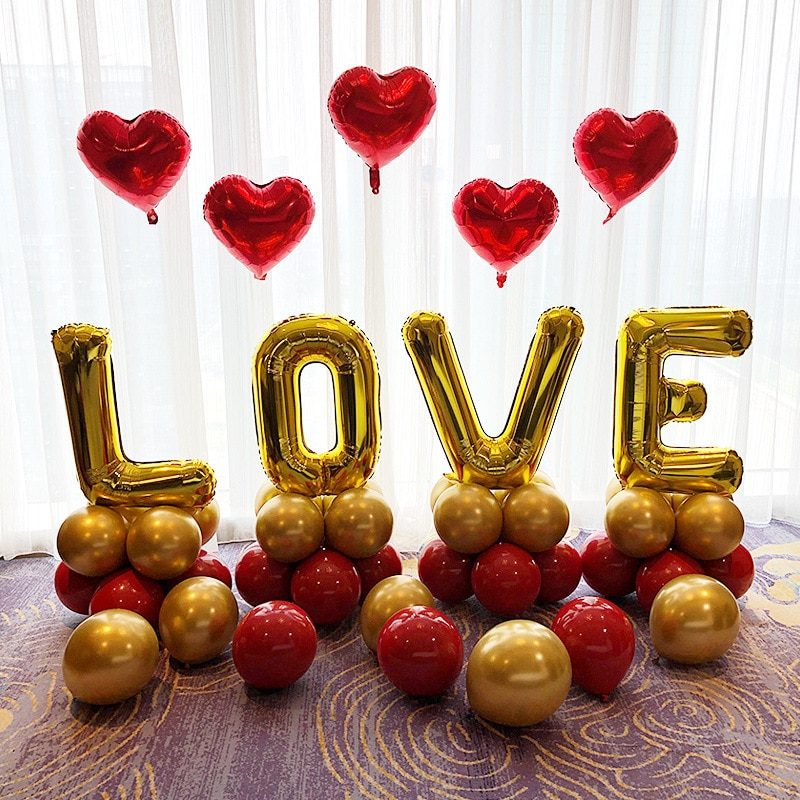 Фото - 32 LOVE Letter Helium Foil Balloon for Anniversary Wedding Valentines Birthday Party Decoration Backdrop Photo Props Globos 1pc 16inch te amo balloon spanish i love you foil letter baloon valentine s day wedding anniversary decoration supplies globos