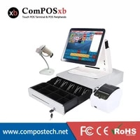 composxb pos system 15 inch all in one touch screen pos terminal cash register for supermarket