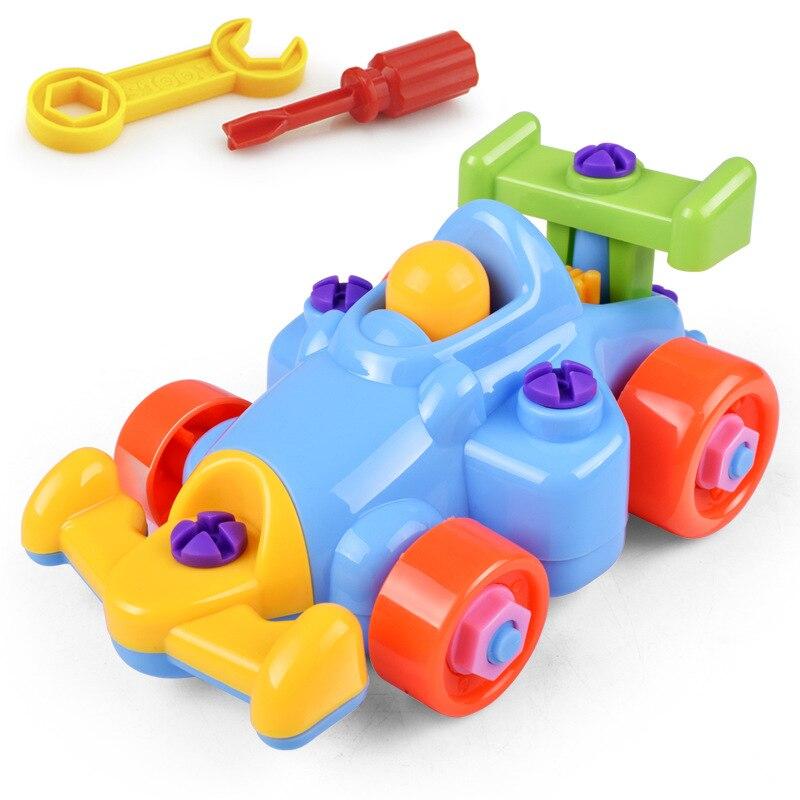 Разборка инженерный автомобиль детские развивающие игрушки сборка и разборка маленький поезд игрушки «сделай сам» игрушечный автомобиль