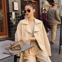 2021 spring autumn lapel long sleeve faux pu leather loose plus size short coat women casual streetwear motorcycle biker jackets