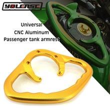 Para YAMAHA YZF R1 R6 FZ07 MT03 MT07 MT09 MT-25 MT-03 CNC para motocicleta empuñaduras de pasajeros empuñadura de mano para tanque agarradera Manijas para brazos