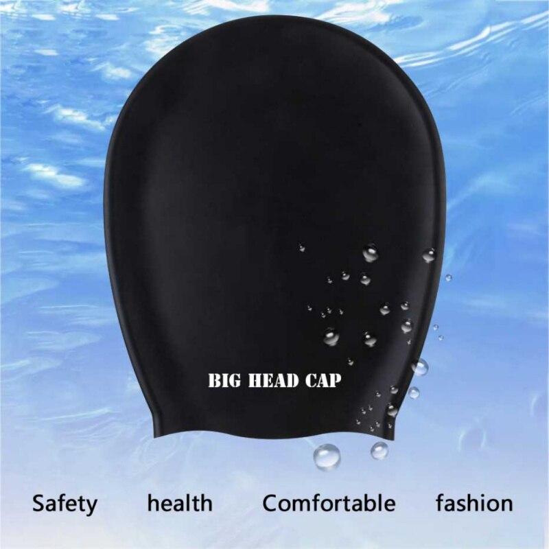 Силиконовая Водонепроницаемая эластичная шапка для плавания для мужчин и женщин, мужская шапка для плавания с длинными волосами, шапка для ...