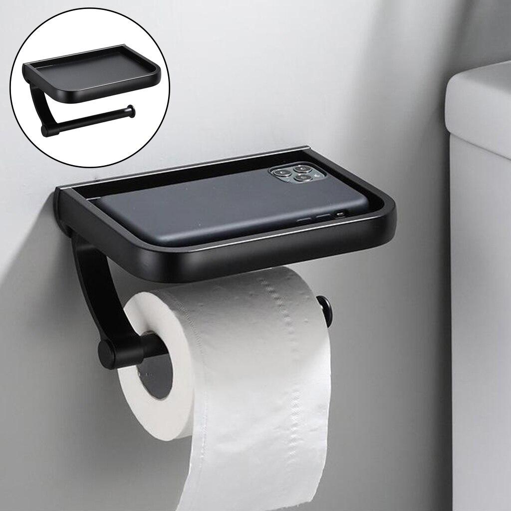 Держатель для туалетной бумаги с полкой для телефона держатель для рулона унитаза оборудование для ванной комнаты с монтажными винтами, ви...