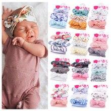 Diademas elásticas para bebé y niña, accesorios para el cabello con estampado de Forwer, turbante para recién nacido, 3 uds.