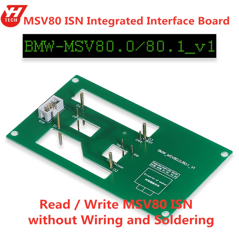 Tablero de interfaz integrado MSV80 ISN Yanhua Mini ACDP para programador de llave BMW