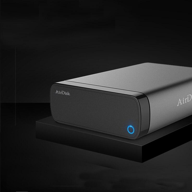 """Airdisk Q3C мобильный сетевой жесткий диск USB3.0 NAS семейный сетевой облачный накопитель 3,5 """"удаленно мобильный жесткий диск коробка (не HDD)"""