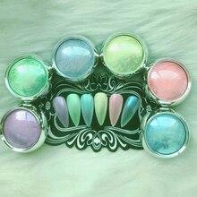 6 корблэйков, 1 г/кор. Аврора, ледяной порошок, конфетный цвет, блестящий порошок для украшения ногтей, FTW2R3452345