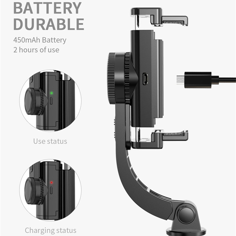 2021 New Mobile Phone Wireless Bluetooth Stabilizer Tripod Selfie Stick Anti-shake Handheld Gimbal Vibrato Video Shooting L08 enlarge