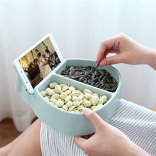 Креативная чаша идеальная для семян орехов и сухих фруктов коробка для хранения держатель мусора тарелка блюдо-органайзер с держателем для телефона