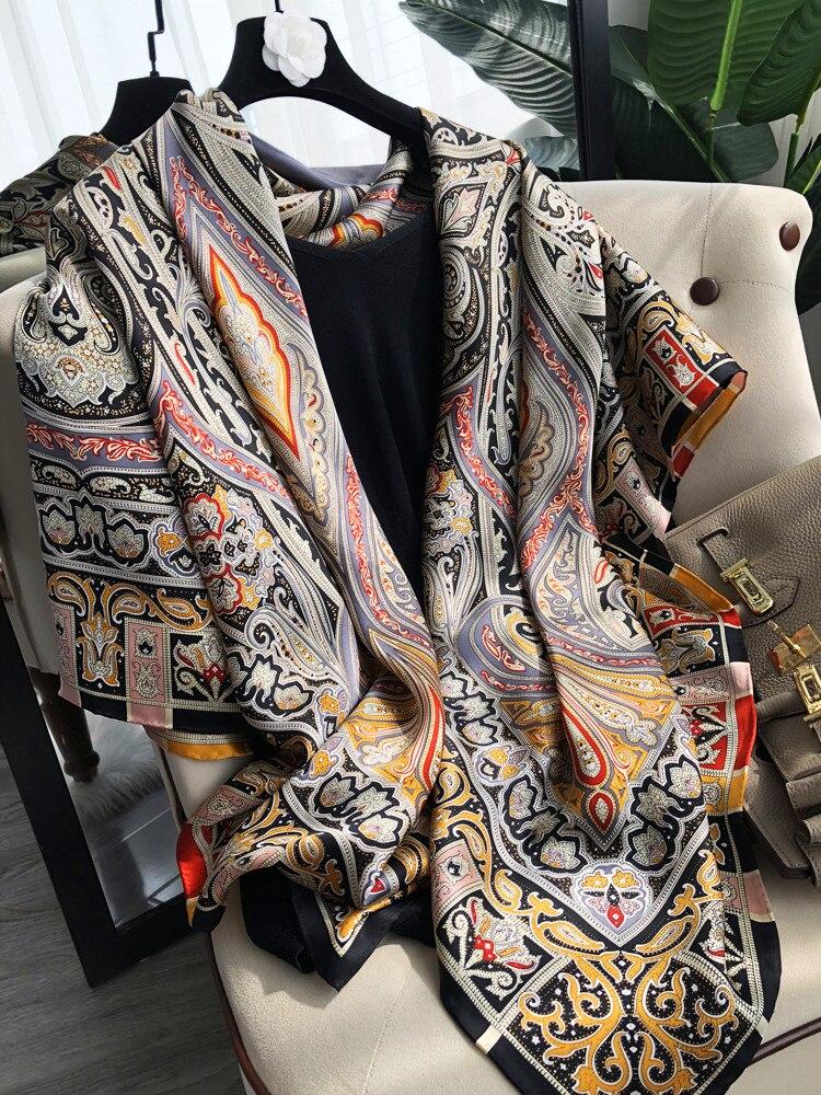 Большой шарф 140*140 100% * шарф из тутового шелкопряда накидка шали дизайнерский шарф 140 от 140 шелковый шарф ручной работы 140 см