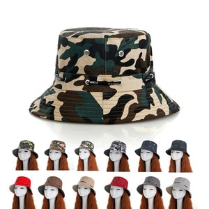Spring And Summer Camouflage Hat Men'S Fishing Hat Mountaineering Outdoor Basin Hat Female Sunscreen Beach Leisure Folding Hat