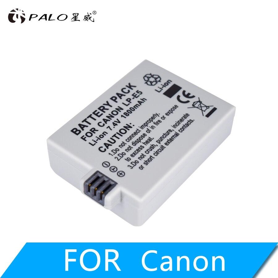 1Pc 1800mAh 7.4V LP-E5 LPE5 LP E5 Rechargeable Camera Battery for Canon EOS 450D 500D 1000D Kiss X3 Kiss F Rebel Xsi
