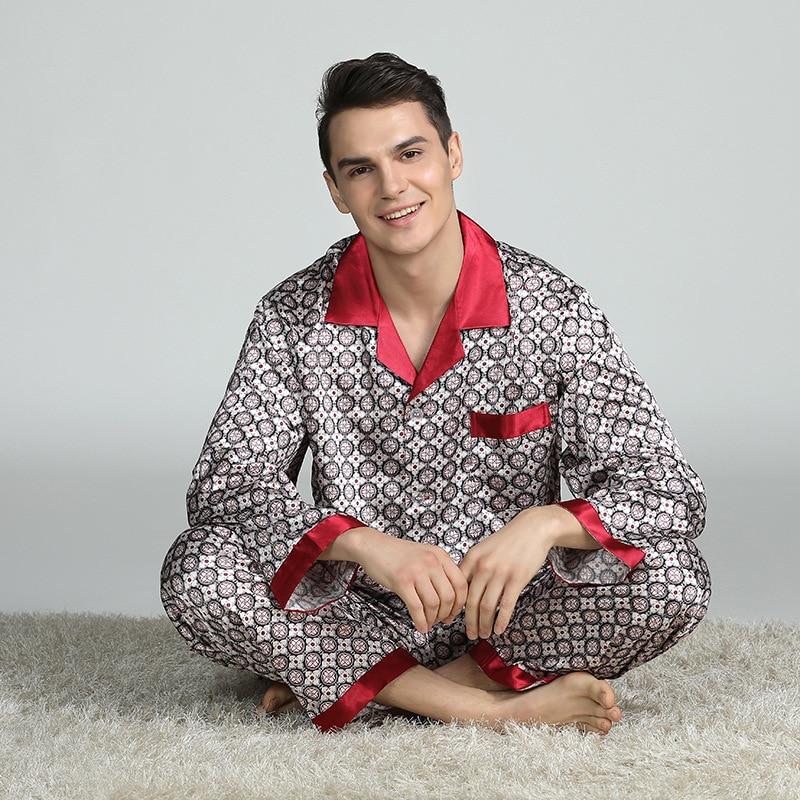 2021 осень повседневная полосатая хлопок пижама комплекты для мужчин длинный рукав длинные брюки пижамы пижамы мужские домашняя одежда гостиная одежда одежда