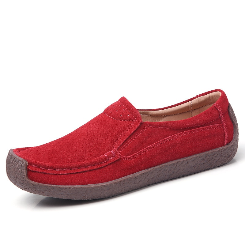 Genuine Leather Moccasins Flat Shoes Women Spring Summer Comfortable Soft Sneakers High Quality Casu