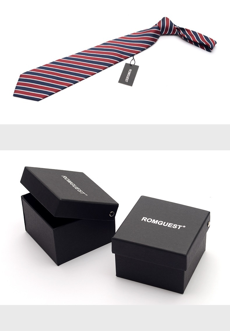 2020 High Quality Brand New Fashion Formal Suit Business Work Red Blue Striped 9cm Necktie Wedding Tie for Men Tie with Gift Box