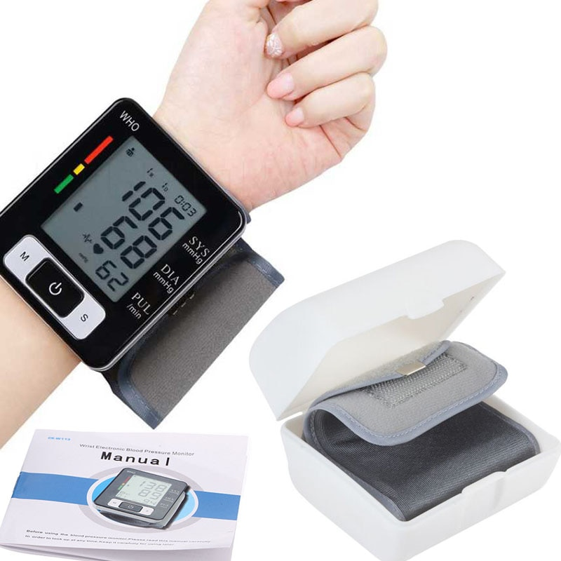 Wrist Digital BP Blood Pressure Monitor meter Automatic Sphygmomanometer Smart Medical Machine Pulse