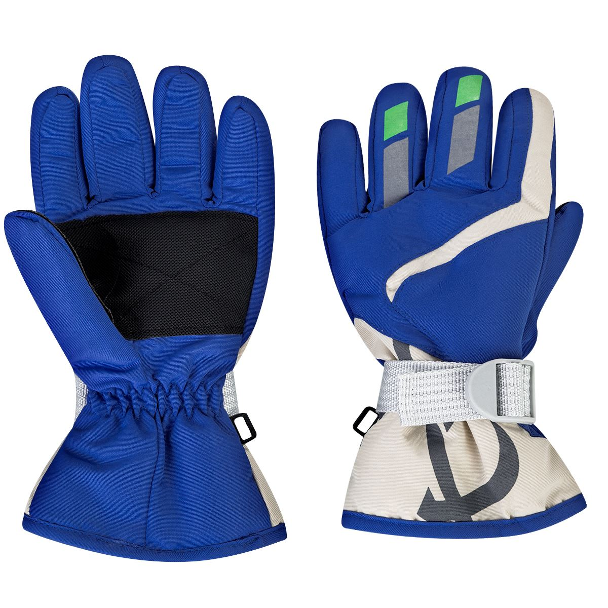 Children Boys/Girls Snowmobile Winter Warm Ski Gloves Sports Waterproof Windproof Snow Mitten Adjustable Strap Skiing