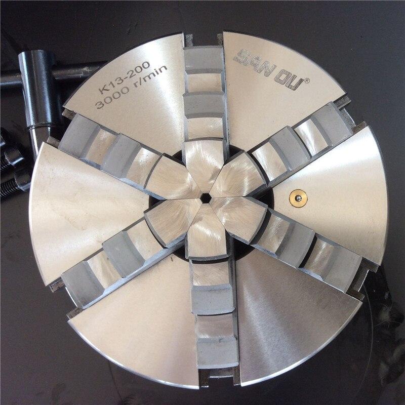 Torno de mordaza, mandril de torno de 6Jaw de 125mm, mandril de 5 autocentrable M8 para máquina de torno CNC para laminado K13-125