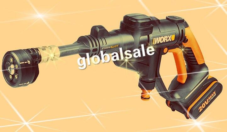 ¡Envío gratis! lavadora de coche WG629E WORX 20 V, batería de litio, lavadora de coche de presión alta, limpiador de energía portátil Hydroshot