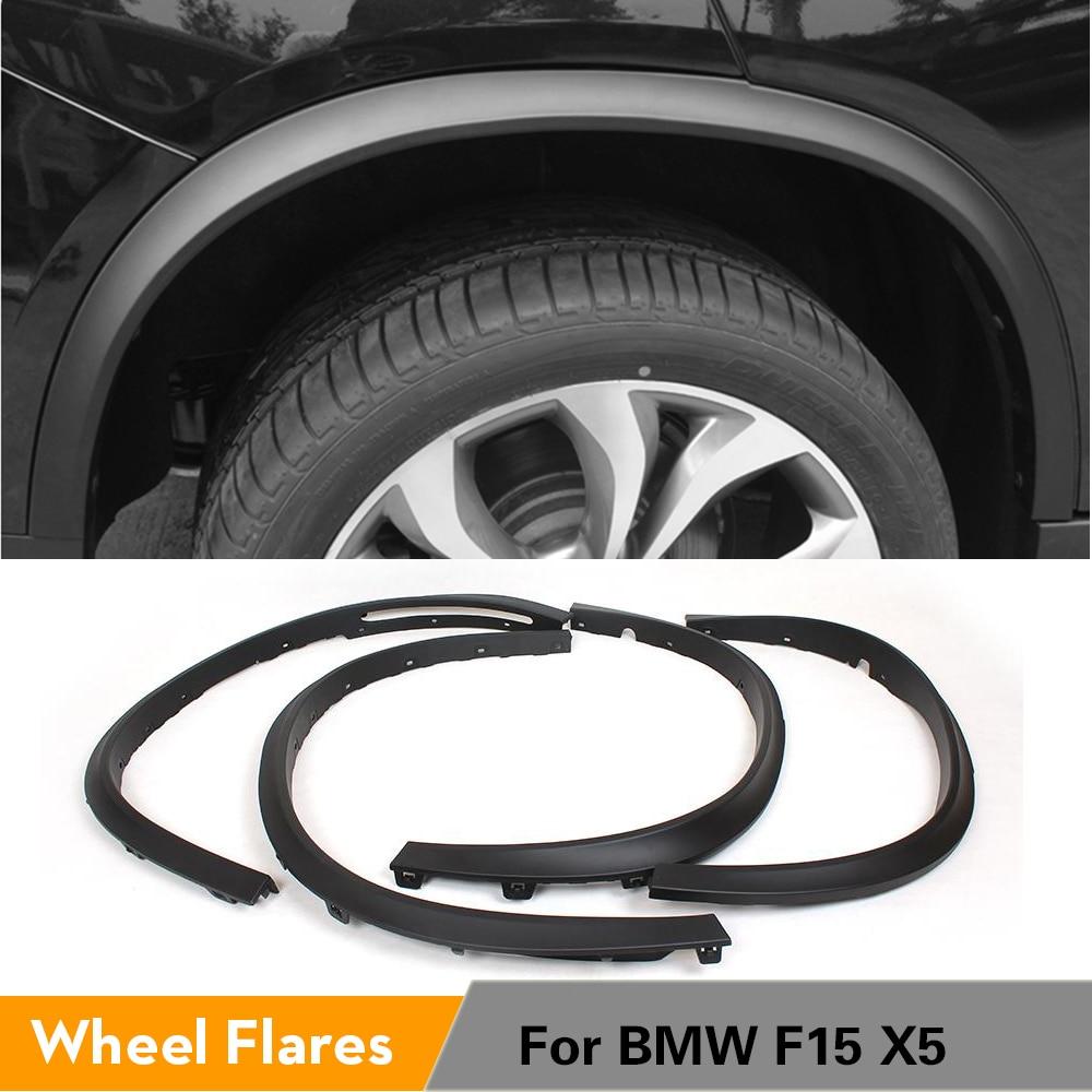 4 шт./компл. PP Black Car Fender Flares для BMW F15 X5 2014-2016